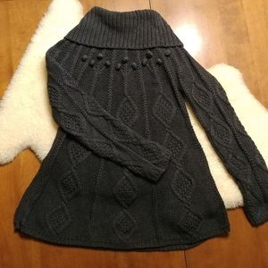 Cowl Neck Long Sweater